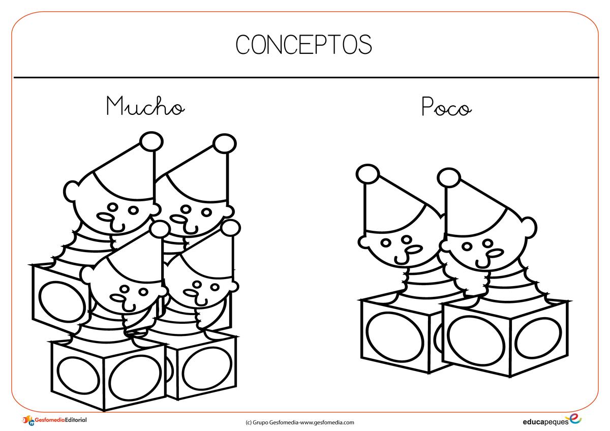 Fichas Para Trabajar Conceptos Muchos Y Pocos En Preescolar