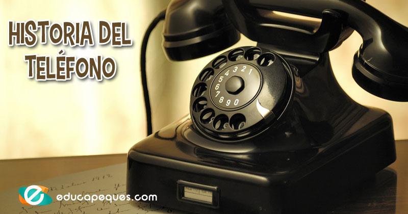 historia del telefono para niños