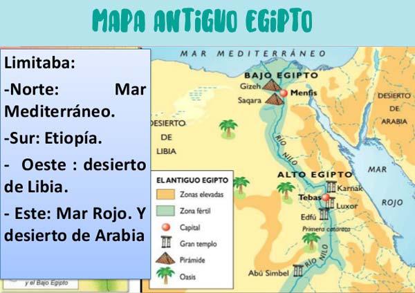 mapa antiguo egipto