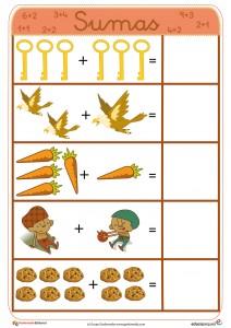 Fichas para aprender a sumar