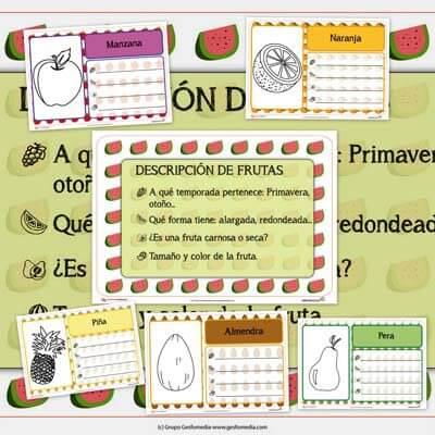 descripciones de frutas