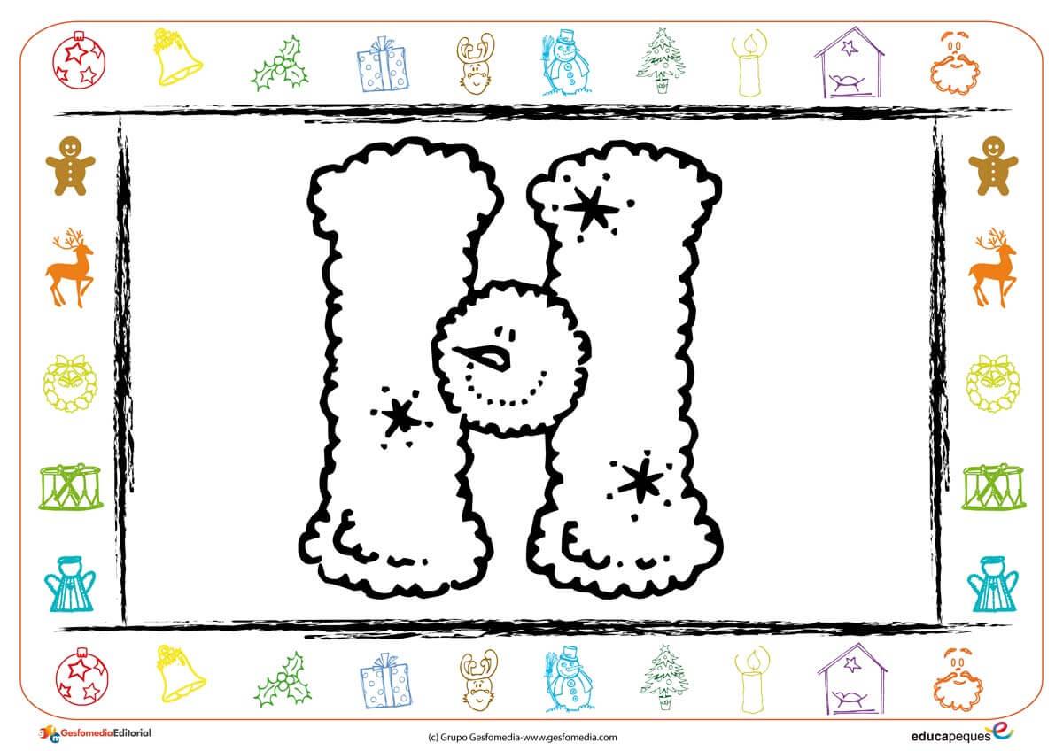Fichas Para Colorear En Navidad Con La Letra H