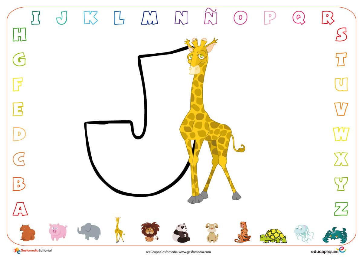 Fichas de abecedario letra L