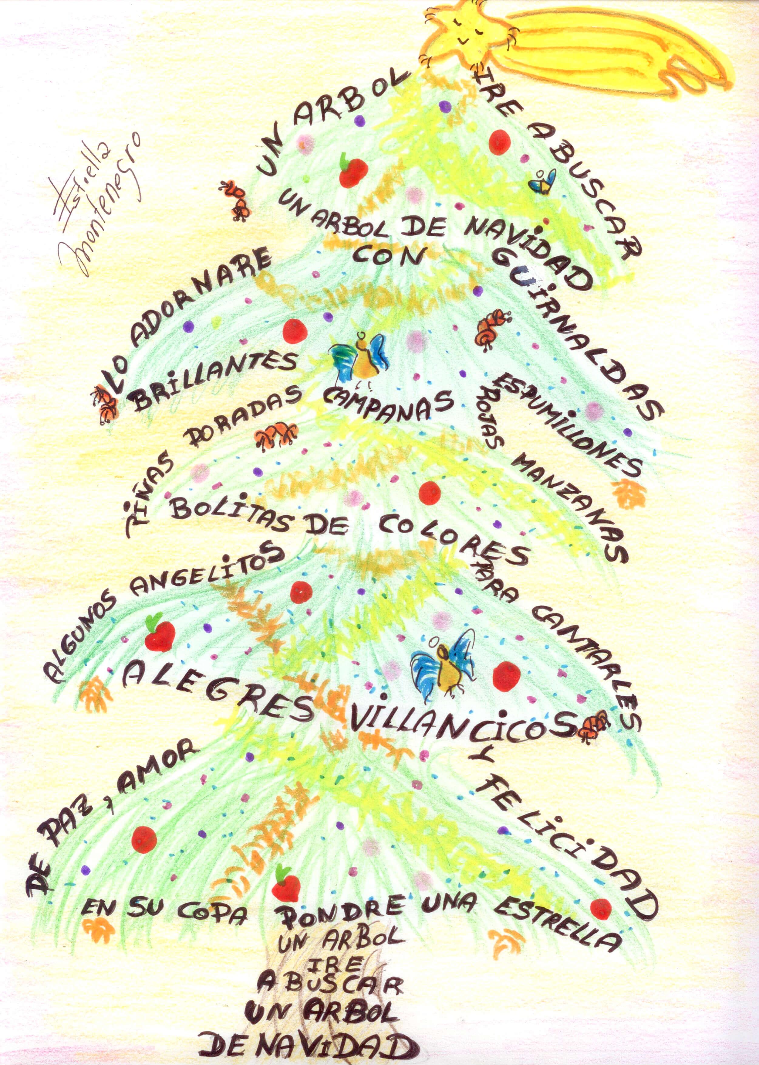 Resultado de imagen de caligrama navideño