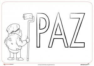 4. Ficha del día de la paz para dibujar y colorear por los niños