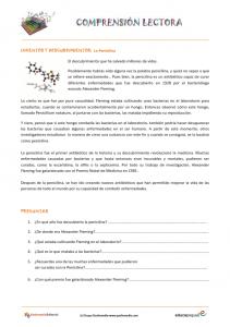 Ficha de compresión lectora: el descubrimiento de la penicilina.2