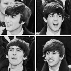 Imagen de The beatles: John Lennon, Ringo Starr, Paul McCartney y George Harrison. Banda musical legendaria