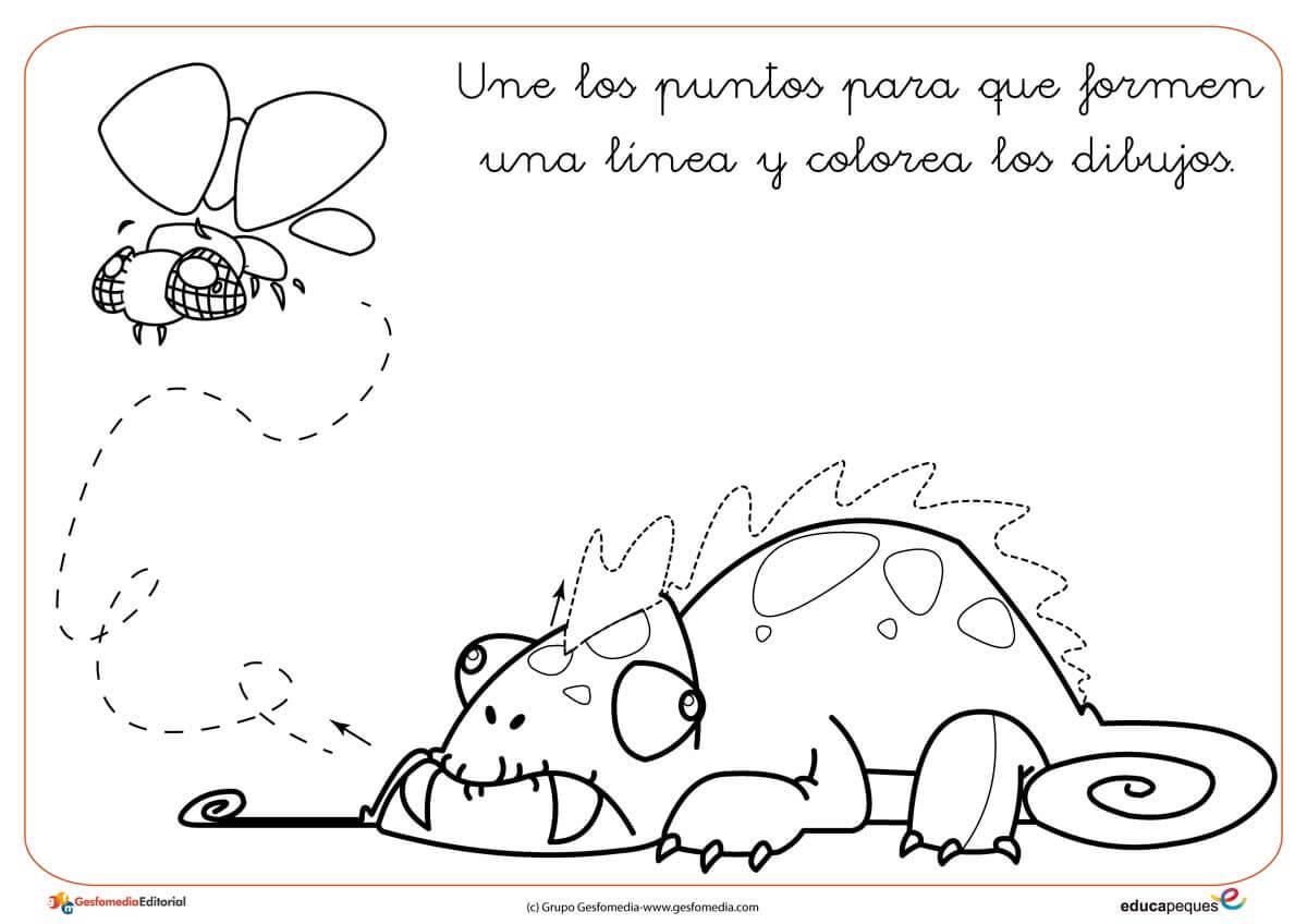 Atractivo Camaleón Para Colorear Molde - Ideas Para Colorear ...