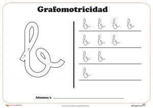 """Ficha de grafomotricidad con la letra be """"B"""""""