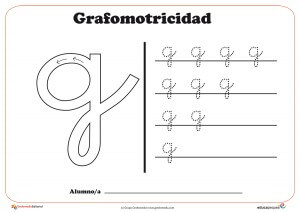 """Ficha de grafomotricidad con la letra """" G"""""""