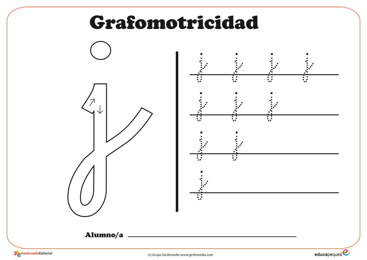 """Ficha de grafomotricidad con la letra """" L"""""""