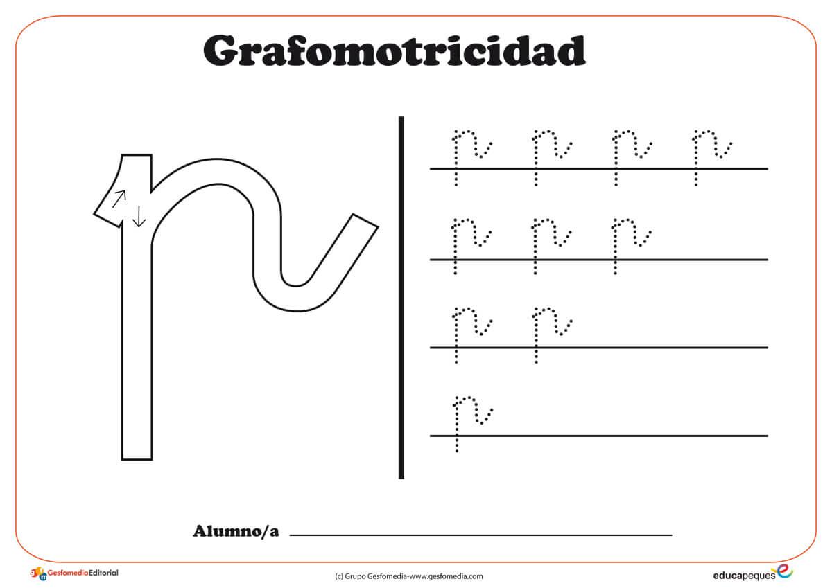 """Ficha de grafomotricidad con la letra """"P"""""""
