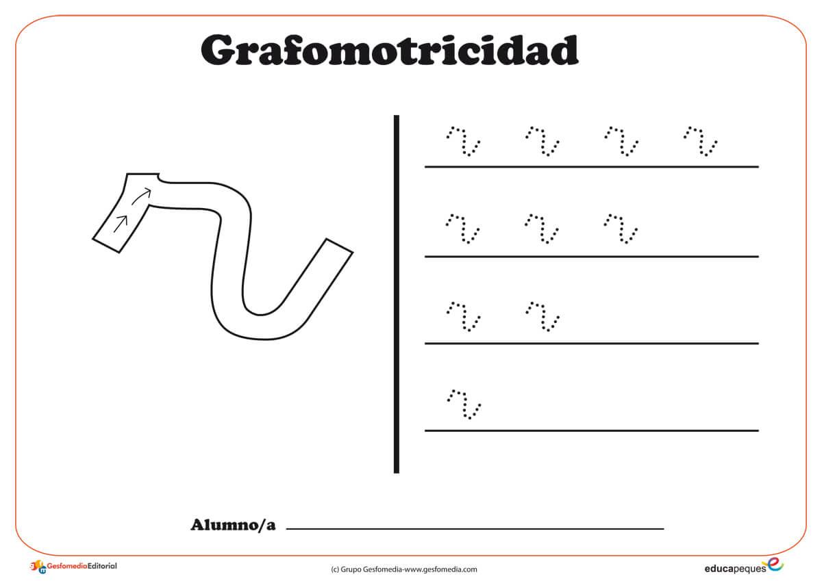 """Ficha de grafomotricidad con la letra """"R"""""""