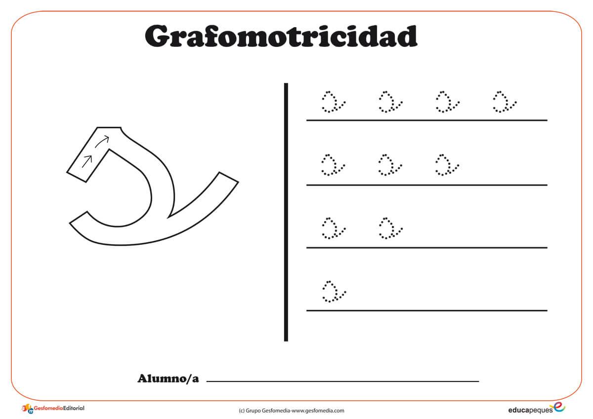 """Ficha de grafomotricidad con la letra """"S"""""""