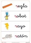 Fichas de letras con la letra del abecedario r, fichas que comienzan por r