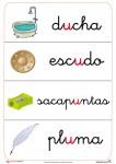 Fichas de letras abecedario u, fichas que contienen u