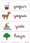 Fichas de letras que comienzan o contiene la letra Y