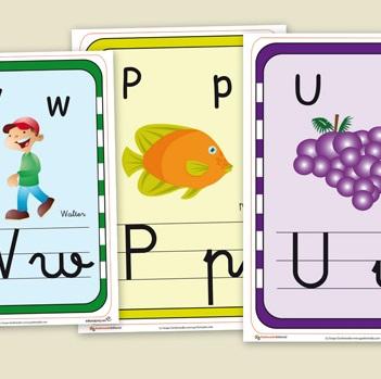 Fichas para repasar el abecedario el portal de educapeques for Laminas infantiles para imprimir