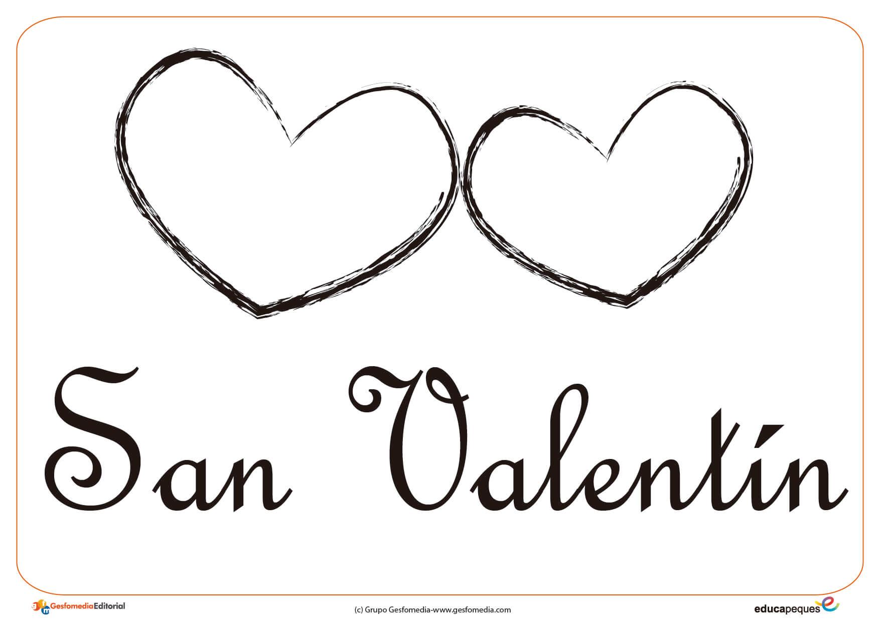 Dibujos Para Pintar Y Colorear En San Valentín