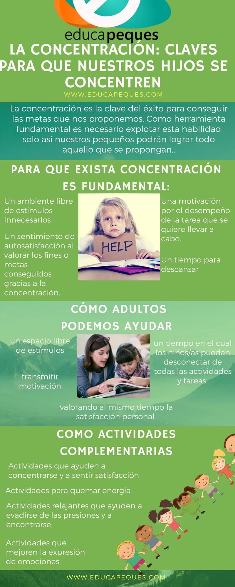 la concentración en los niños