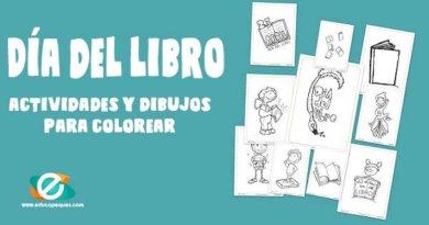 Dibujos para colorear: Día Internacional del libro