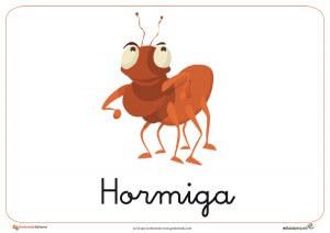 Fichas de animales e insectos: Hormiga