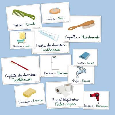 vocabulario, el cuarto de baño