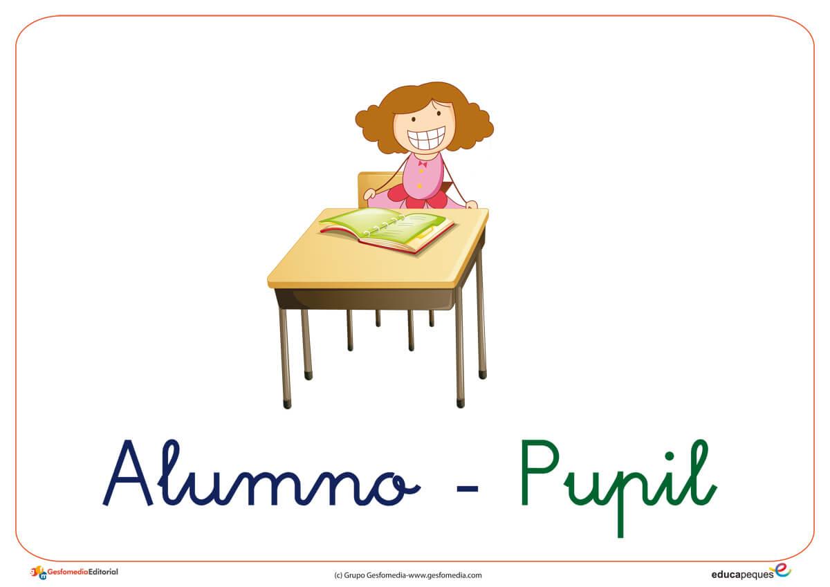 Vocabulario En Imágenes El Colegio