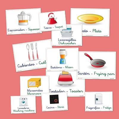 Vocabulario De Cocina | Fichas De Vocabulario Basico La Cocina