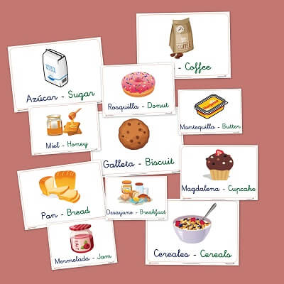 Vocabulario b sico en castellano e ingles alimentos del desayuno - Alimentos en ingles vocabulario ...