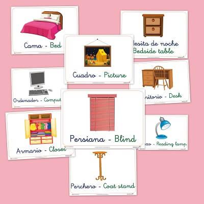 Vocabulario básico del dormitorio - Educapeques