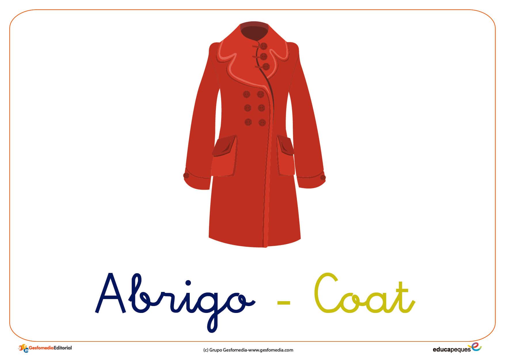Una prenda de abrigo en ingles
