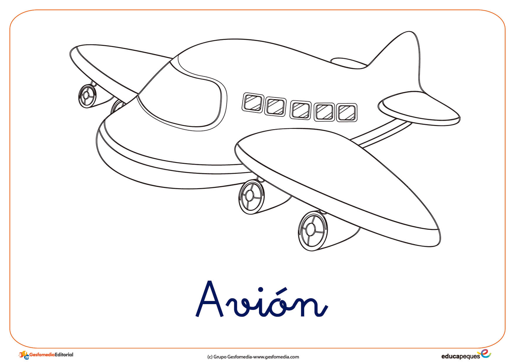 Fresco Imagenes Para Colorear De Aviones Infantiles