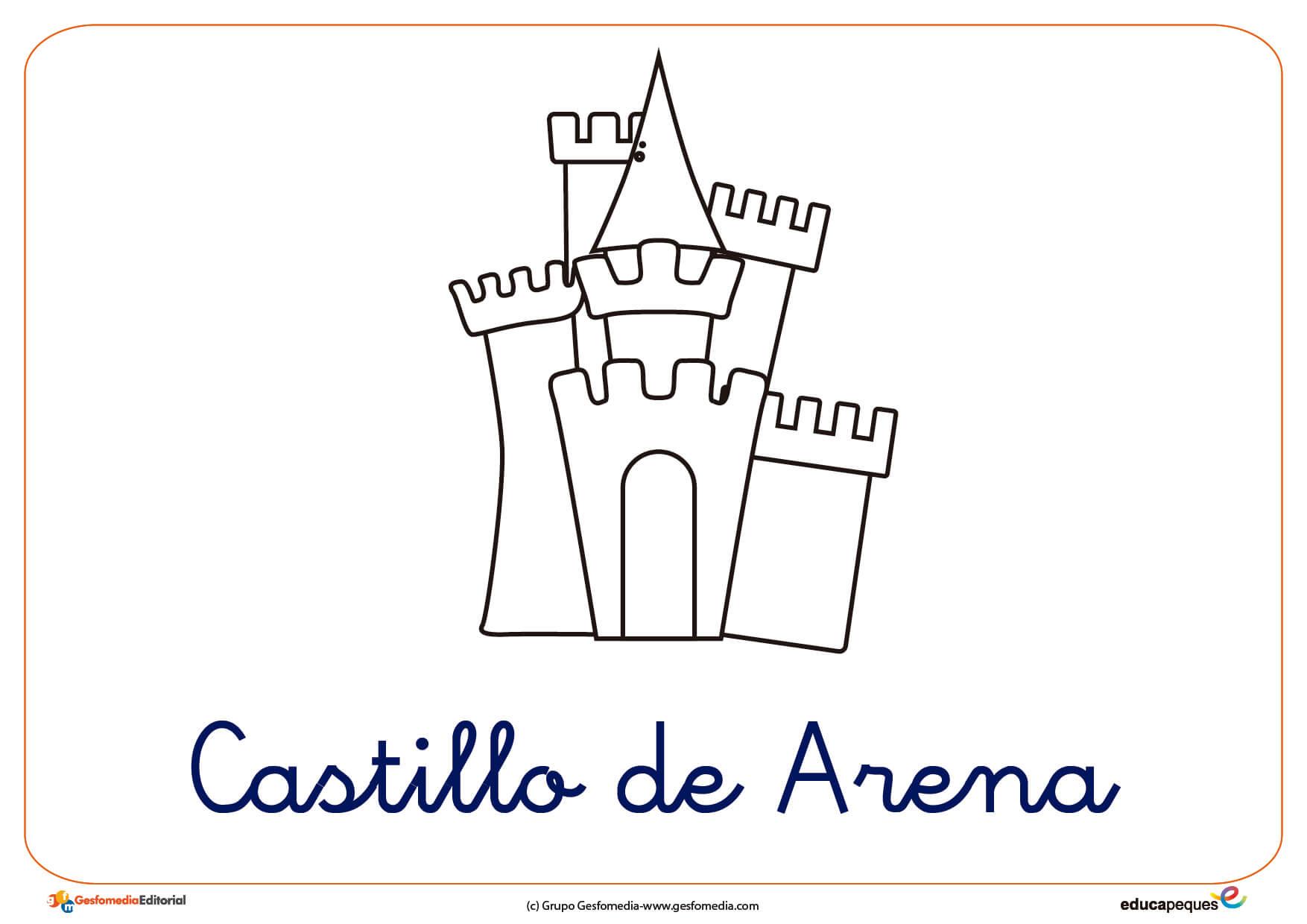 Castillo De Arena Ficha Verano Colorear