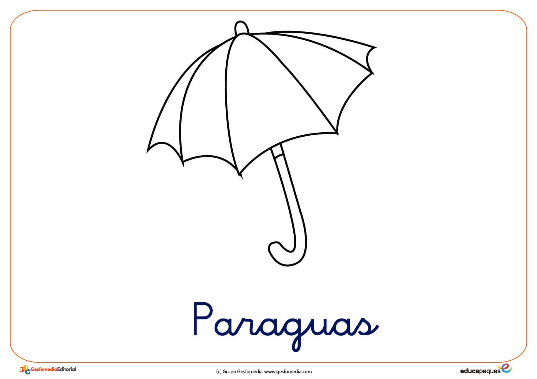 Dibujos De Ropa Para Colorear E Imprimir: Paraguas Ficha Ropa Invierno Colorear