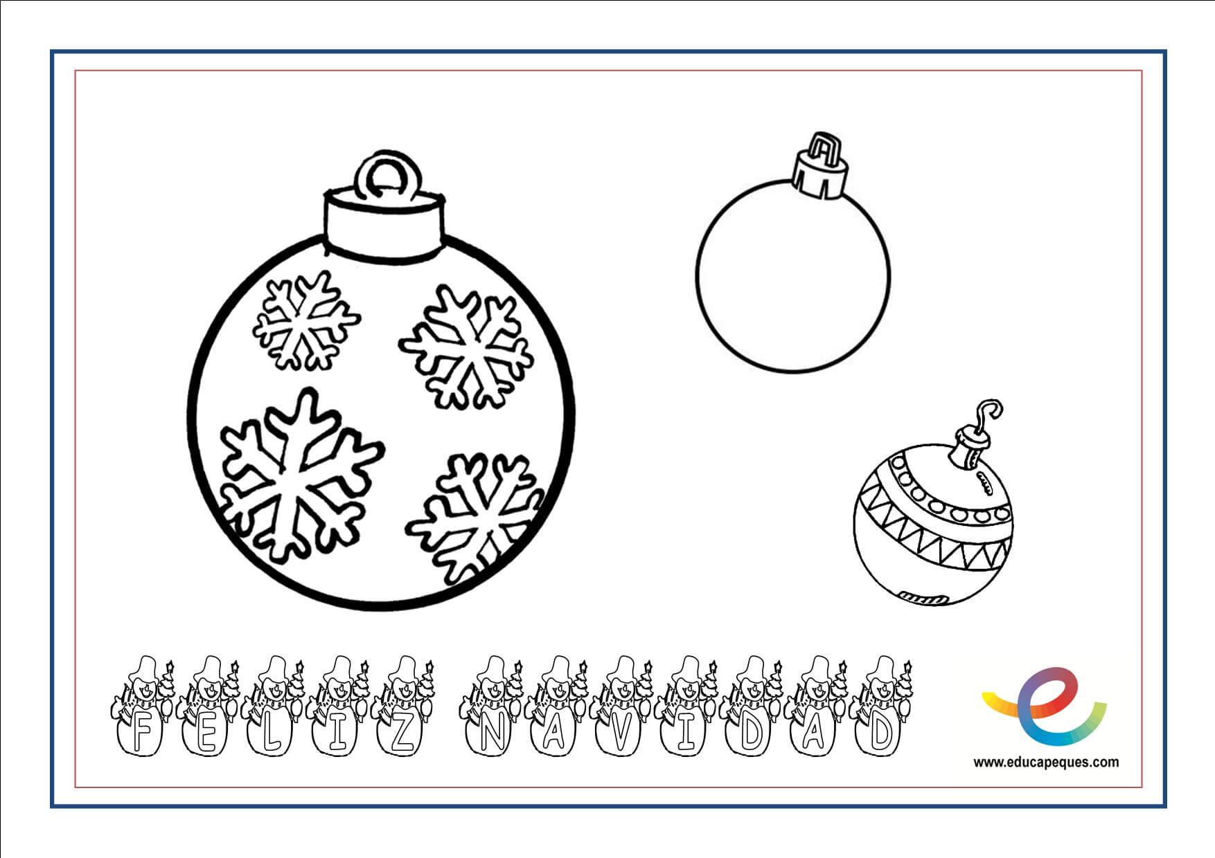 Dibujos para colorear de Navidad. Actividades navideñas ...