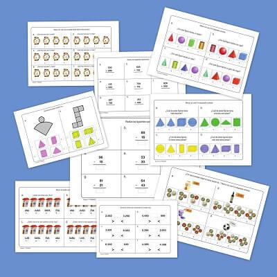 Fichas de matemáticas para primaria
