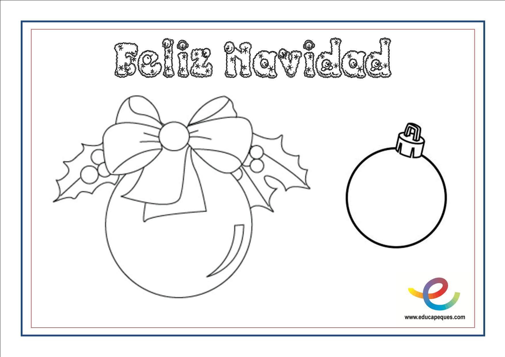 Dibujos Para Colorear De Navidad Actividades Navideñas Para