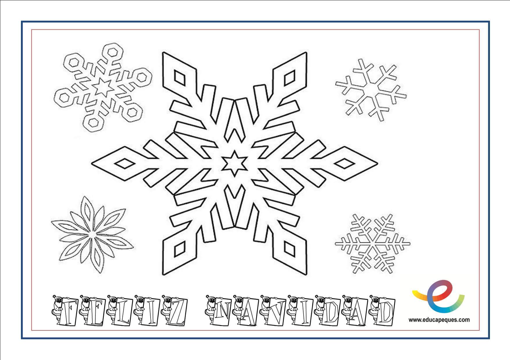 Mejor De Dibujos De Copos De Nieve Para Colorear E Imprimir
