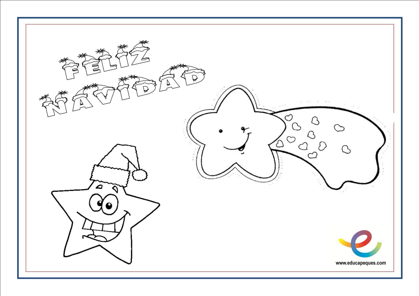 Dibujos Para Colorear Navidenos Imprimir: Dibujos Para Colorear De Navidad. Actividades Navideñas