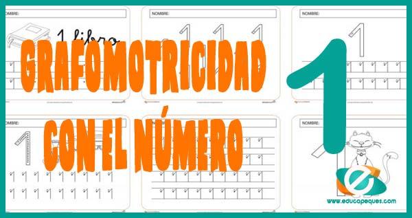 grafomotricidad con el número uno