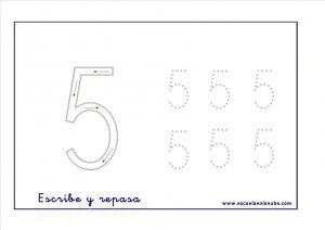 17 Fichas De Numeros Del 1 Al 5 Para Imprimir