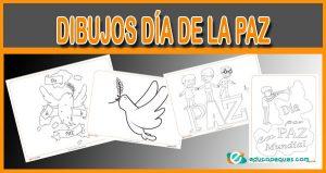 dibujos para colorear del Día de la Paz