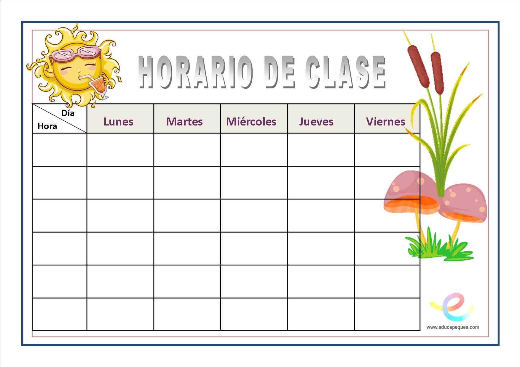 Imagenes De Horarios De Clases Decorados
