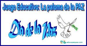 juego de la Paz, la paloma de la paz