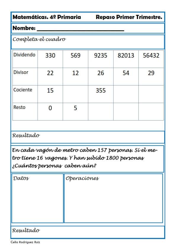 problemas de matematicas para cuarto de primaria - 28 images - matem ...