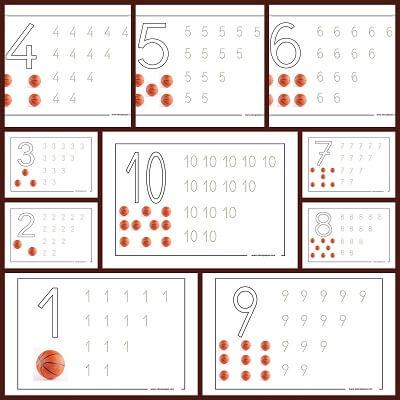 Fichas de números