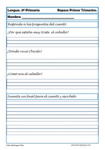 lengua, ejercicios de lengua, lengua primaria, tercero primaria