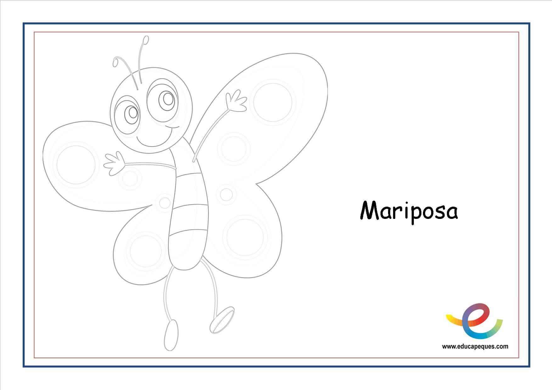 Mariposas De Primavera Para Colorear. Excellent Dibujos Para Pintar ...
