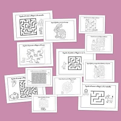 Laberintos infantiles para niños de primaria gratis - Descarga e imprime